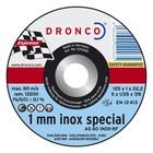 Dronco Snijschijf 125x1mm, metaal en inox, 10 stuks