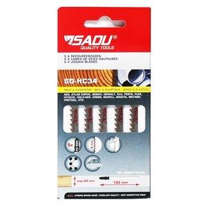 Sadu Decoupeerzaag  HC34  (Bosch  ref T301DL), per 5, zaagblad 132mm