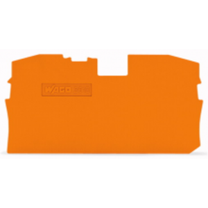 Wago Afsluit- en tussenplaat oranje 2010-1292