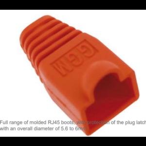 Kabeltulles voor RJ45 aansluiting Rood 10st