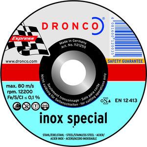 Dronco Dunne snijschijf 230x1,9x22,23mm, metaal en inox