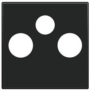 Niko Afwerking Zwart TV-FM & satelliet 161-69551