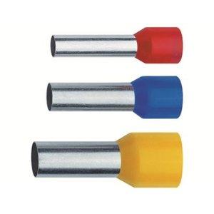 Adereindhuls geisoleerd 2.5mm per 100 stuks  Blauw