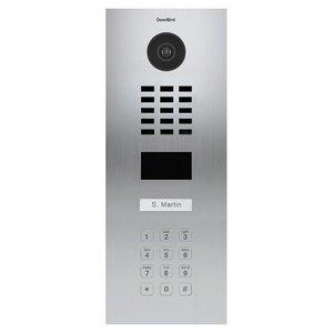 DoorBird IP videofoonset D2101KV inbouw RVS, 1 drukknop, codepaneel