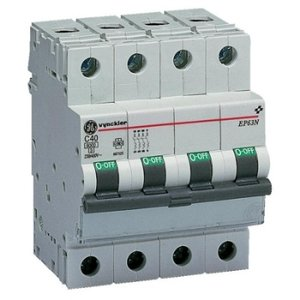 Vynckier Automaat 3P+N - 50A - 6kA - curve C