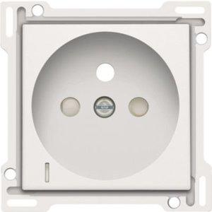 Niko Afwerking stopcontact spanningsaanduiding,  white steel 154-66607