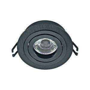 Terni Pro inbouwspot GU10 Zwart Gyproc Springveren zwart IP20 - LI61523