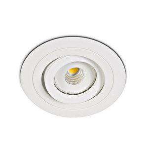 Inbouwspot GU10 richtbaar Wit Gyptoc springveren - LID13271