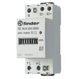 Finder Finder KWH meter 35MM 1x65a  -  7E.16.8.230.0010