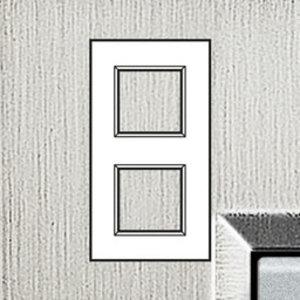 Bticino Afdekplaat 2 x 2 mod LivingLight horizontaal Geborsteld staal