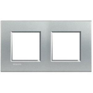 Bticino Afdekplaat 2 x 2 mod LivingLight horizontaal, tech ♥ 71