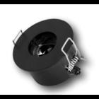 Teconex NAULA zwarte inbouwspot rond TLC100XB64RX