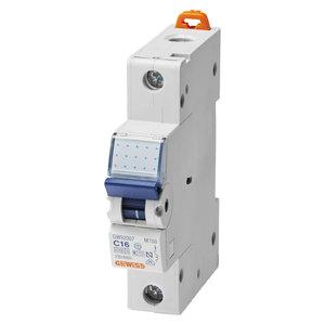 Gewiss Automaat - MT45 - 1P - curve C - 16A - 4,5kA - GW92108