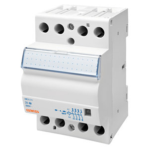 Gewiss Contactor 40A 4NO 24V - 3 modules