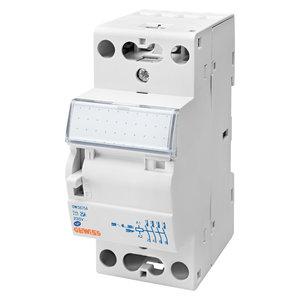 Gewiss Contactor met manuele bediening - 25A 4NO 24V 2M - 2 modules