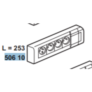 Legrand Contactdoos  4 x 2 P + A 10/16 A  230 V - wit -  050610