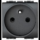 Bticino Centraalplaat stopcontact, antraciet