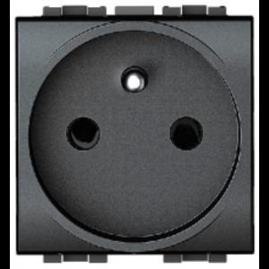 Bticino LL- centraalplaat  + aarding, antraciet -  L4942S