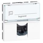 Legrand Mosaic RJ45 Cat. 6a UTP 2 modules wit LCS²