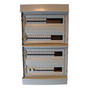 Teconex Voorbedrade zekeringkast 72 mod 1 fase 240V 63A