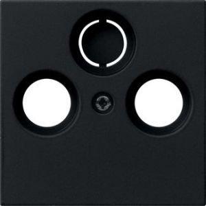 Gira Centraalplaat coax.antenne-CD System 55 zwart mat