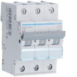 Hager  Automaat 3kA - C - 3P - 20A - 3M  - MWN320A