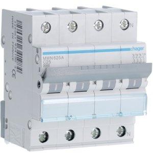 Hager  Automaat 3kA - C - 3P+N - 25A - 4M  - MWN625A