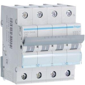 Hager  Automaat 3kA - C - 3P+N - 40A - 4M  - MWN640A