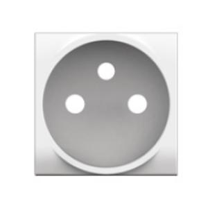 Bticino LL- centraalplaat 2p + aarding, wit - N4942S