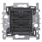 Niko 6-voudige drukknop Witte  LED - 170-60170