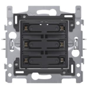 Niko Sokkel 6-voudige drukknop 24V N.O. metWitte LED - 170-60170