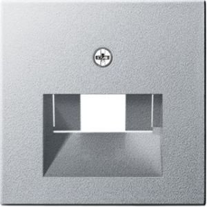 Gira Centraalplaat RJ45 wandcontactdoos 1&2-voudig Systeem 55 alu mat -027026