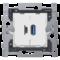 Niko Dubbele smart USB-A en USB-C lader - 420-00512