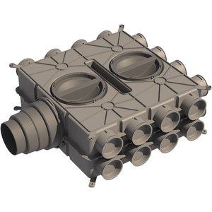 Ubbink DBOX800 luchtverdeelkast 24 aansluitingen