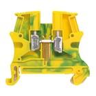 Legrand Schroefklem 1 verbinding 2,5mm²- metalen voet, groen/geel