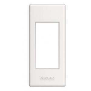 Bticino LivingLight-Houder-afdekplaat profiel 1 mod. wit   - LND4811BI