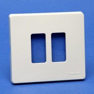 Bticino 500/2/R Magic Ivoor Afdekplaat 2 module