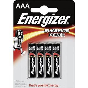 Energizer Batterij 4 x AAA LR3 1,5V