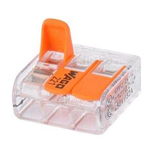 Wago verbindingsklem compact 3 x 0,2 - 4mm doos van 50 stuks
