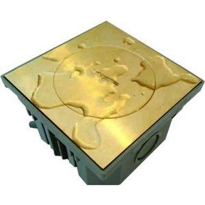 Bubox Messing deksel met standaard sluiting
