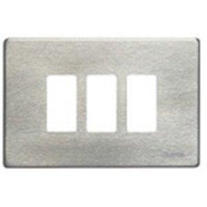 Bticino 503/3/AL Magic Aluminium Afdekplaat 3 modules