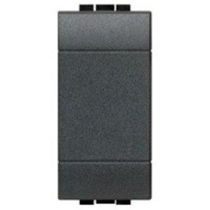 Bticino Blindplaat livinglight 1 module, antraciet