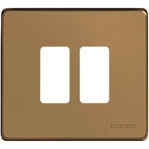 Bticino 500/2/BR Magic Brons Afdekplaat 2 module