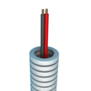 Flexibele buis met Luidsprekerkabel 2 x 1,5 - rol 50m