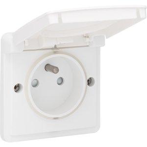 Niko Waterbestendig stopcontact wit 701-36600