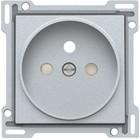 Niko afwerkingsset, zilver, stopcontact, inbouwdiepte 21mm Niko 103-66101