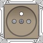 Niko afwerkingsset, bronze, stopcontact inbouwdiepte 28,5mm Niko 123-66601
