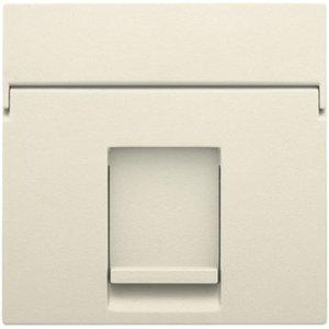 Niko afwerkingsset voor enkelvoudige datacontactdoos kleur cream / 100-65100