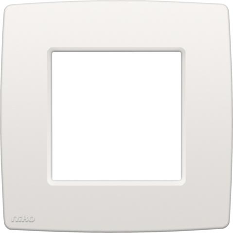 Niko Original White.Enkele Afdekplaat Kleur Original White Niko 101 76100