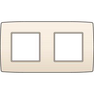 Niko Tweevoudige horizontale afdekplaat, kleur Original cream (Niko 100-76800)